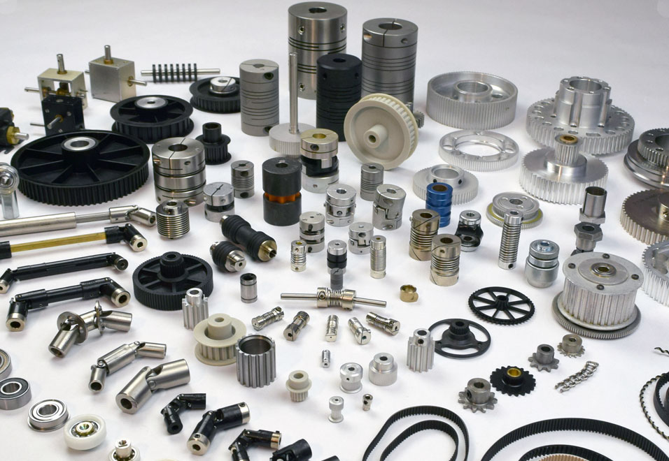 A large collection of manufacturing mechanical components from Stock Drive Products SDP/SI Sterling Instruments