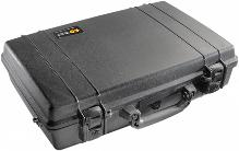 Durable Pelican Protector laptop case with double safety locks with keys.