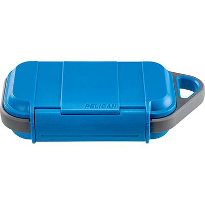a blue and gray pelican g40 go case for personal utilities from RP Luce, closed