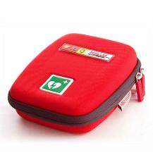 Shell brand portable medical case in red.