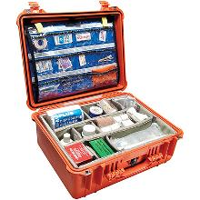Contents inside of RP Luce's custom-made Pelican medical case for harsh environments.