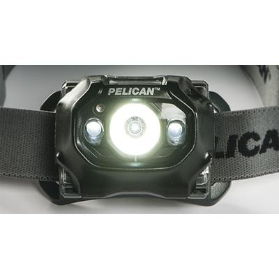 Front detail of the 2760 headlamp when it is powered on