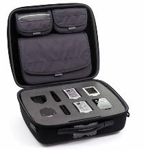 Shell-Case brand portable sales and demo case in black.