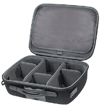 Shell brand lightweight and portable Audio-Video case.